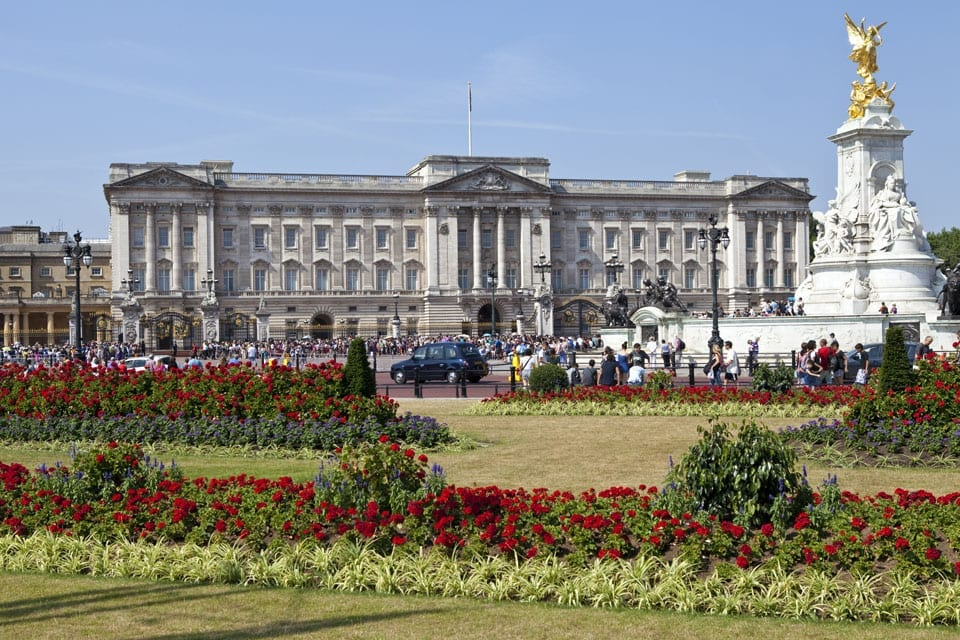 Buckingham Palace und Victoria Memorial in London