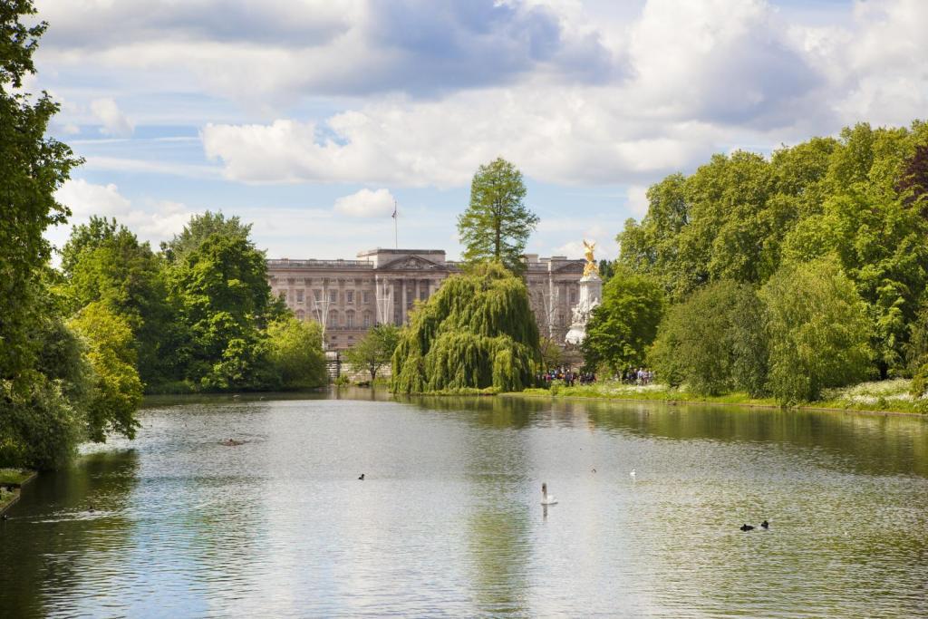 Auf der Themse mit Blick auf den Buckingham Palace