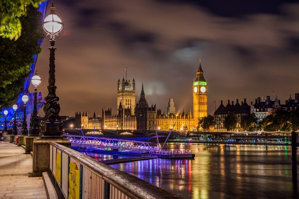 Big Ben und Themse bei Nacht