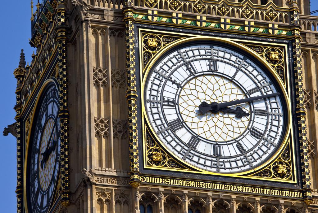 Londons Big Ben Zifferblatt