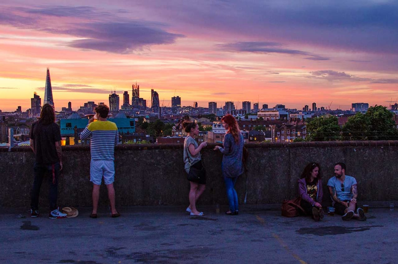 Die besten Rooftop-Bars in London: Frank's Cafe