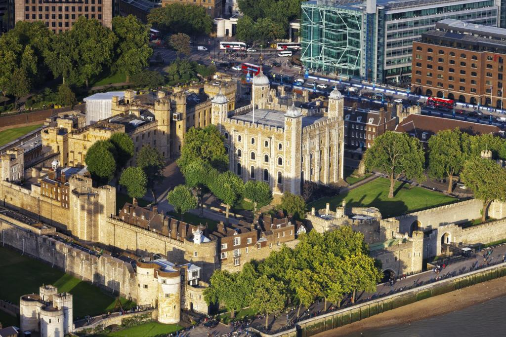 Der Tower of London aus der Vogelperspektive