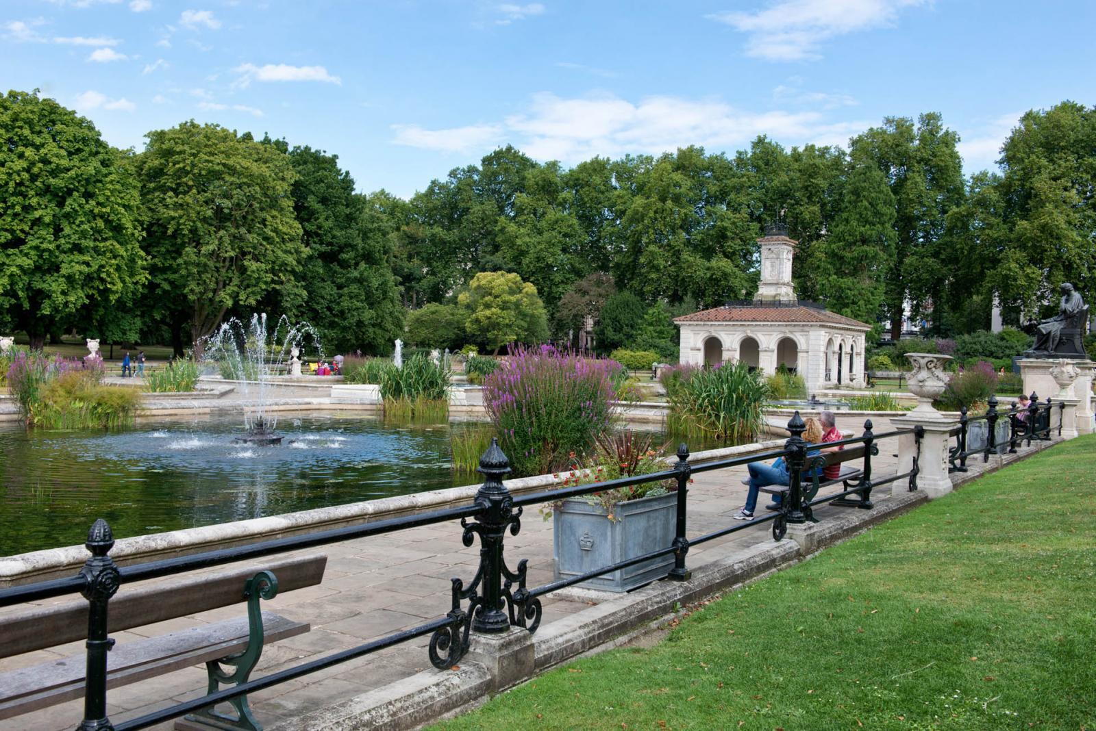 Italian Gardens in den Kensington Gardens