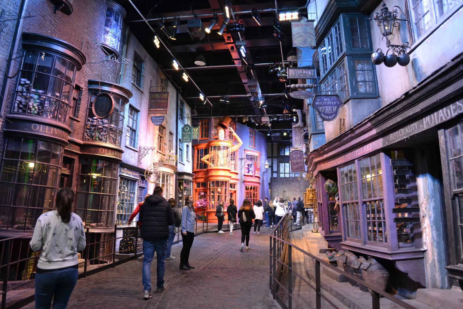 Die Winkelgasse in den Warner Bros. London Studios