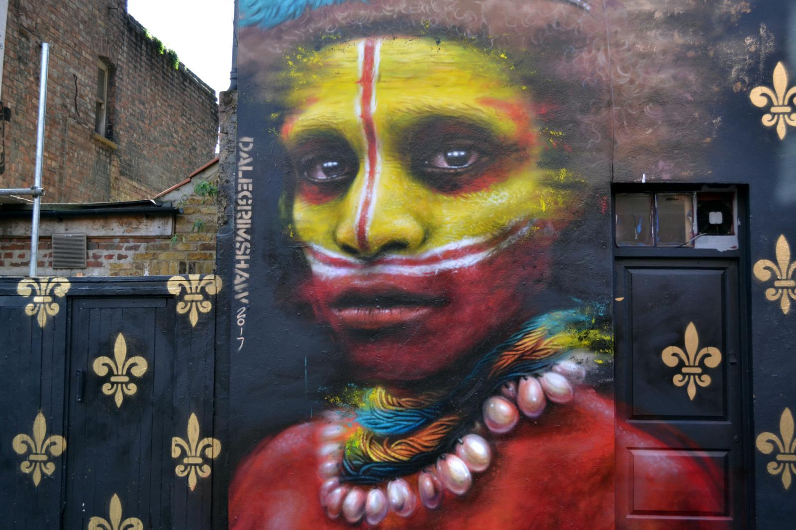 Streetart in der Brick Lane in London