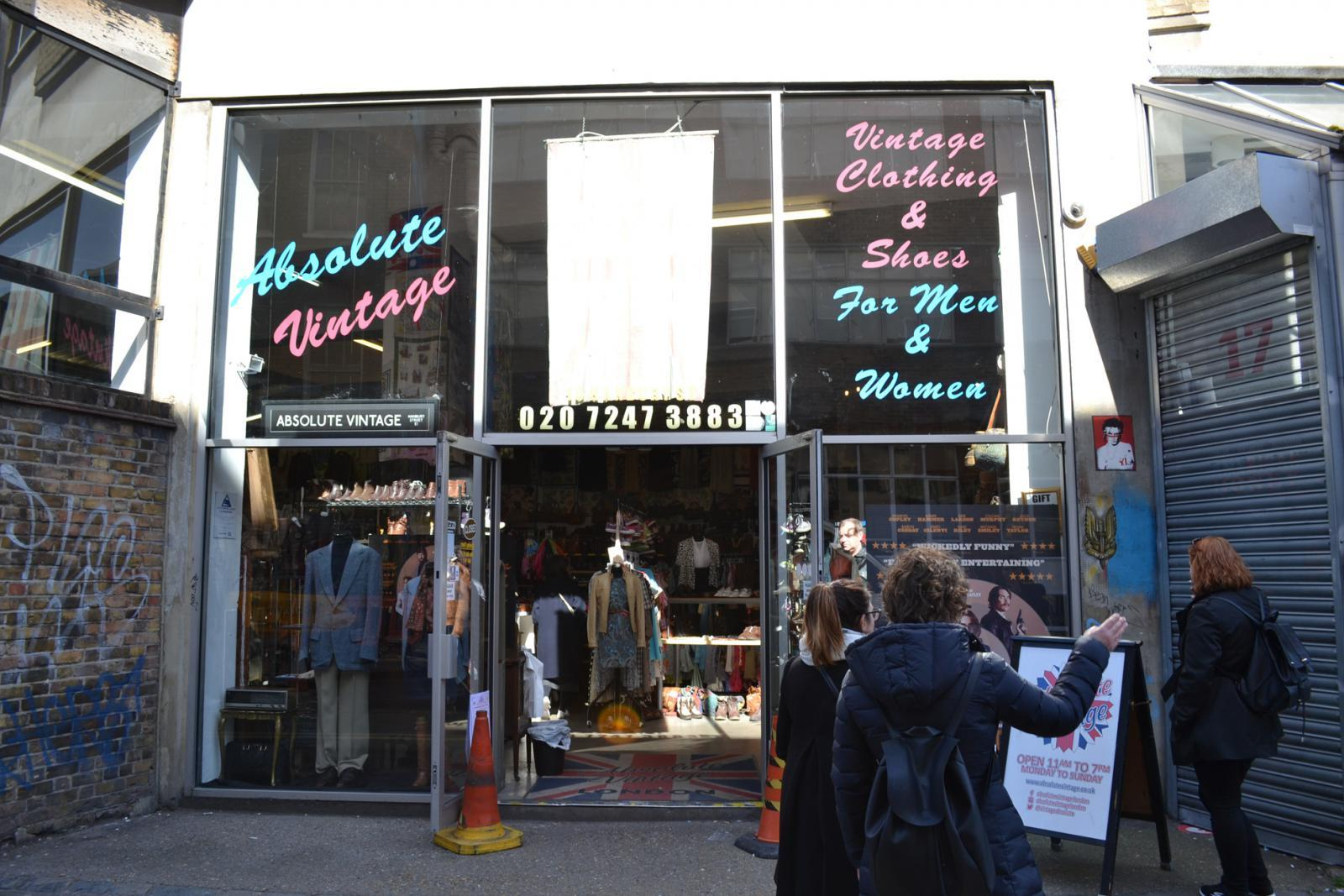 Second Hand Shop in der Brick Lane