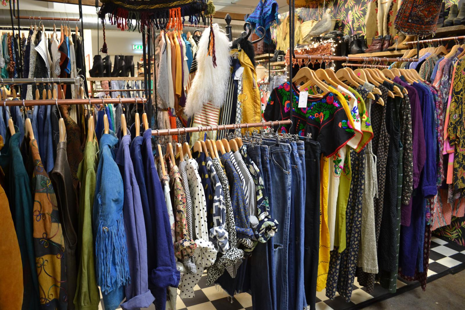 Vintage Second Hand in der Brick Lane in London