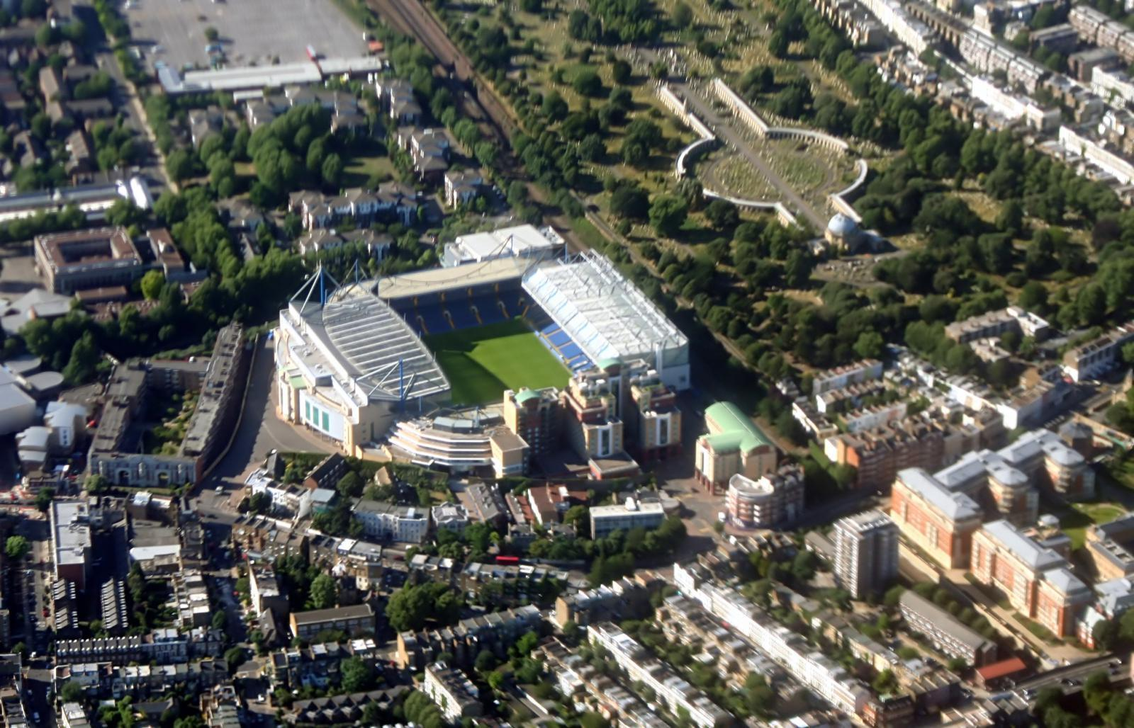 Das Chelsea Stadion in London