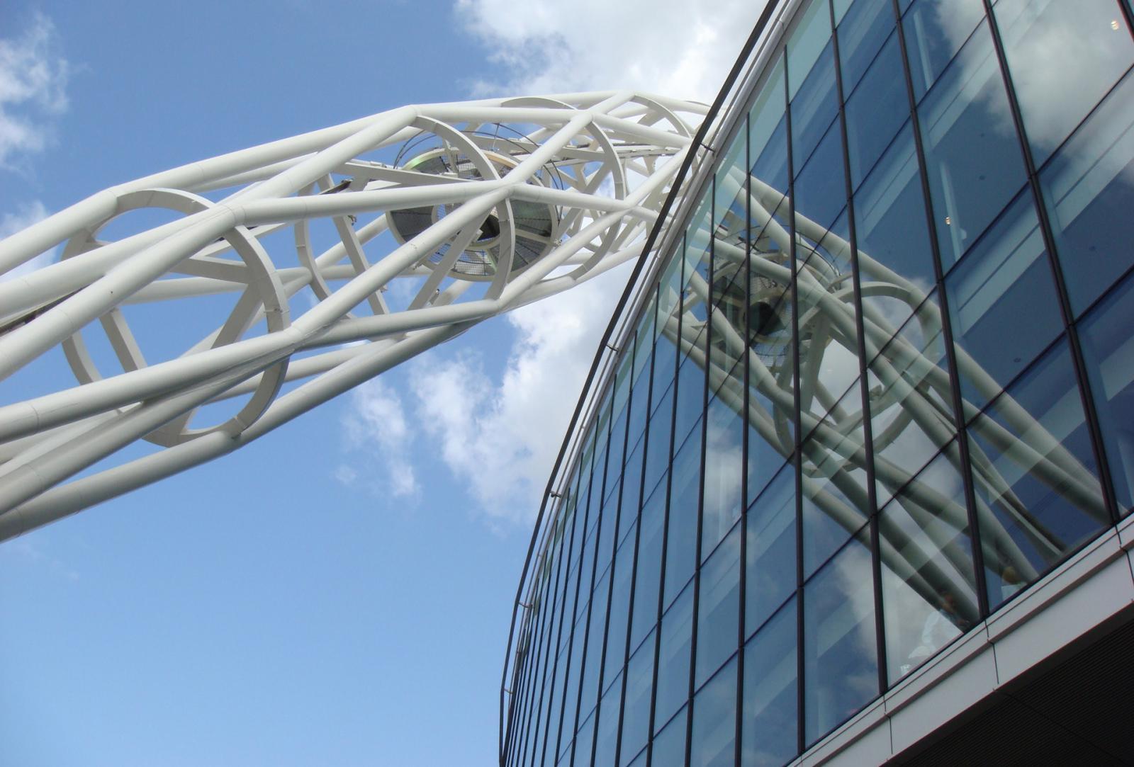 Das Wembley Stadion in London