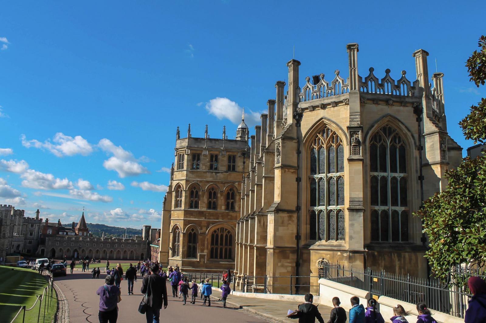 Schloss Windsor bei blauem Himmel