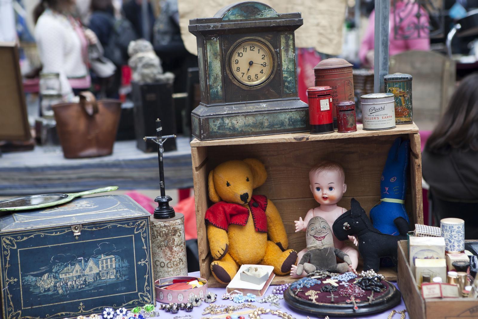 Antik Verkaufsstand am Greenwich Market