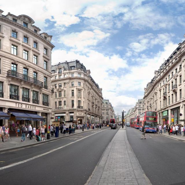 Regent Street & Oxford Street in London