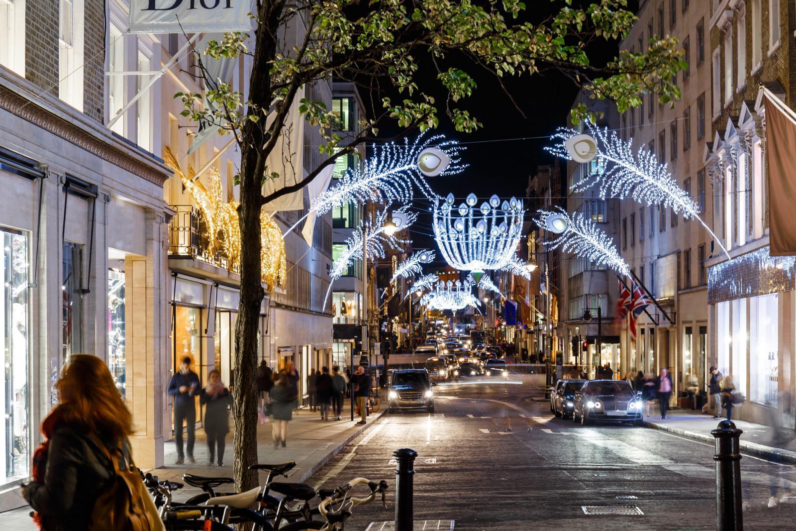 Bond Street in Mayfair, London, Shopping