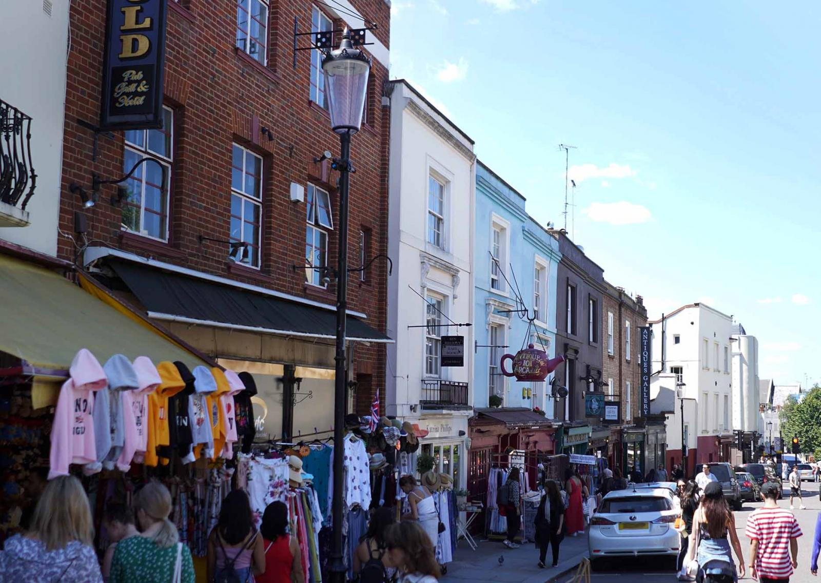 Portobello Road Market in Notting Hill