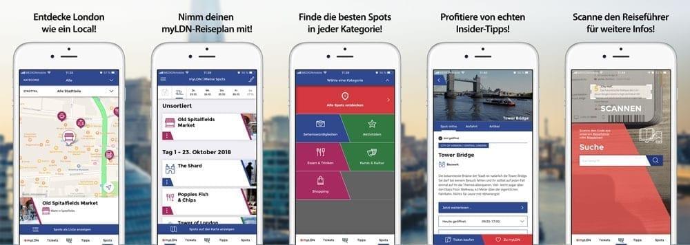 Loving London App Screenshots