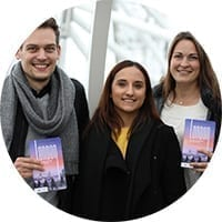 Matthias, Laura und Isabelle von Loving London