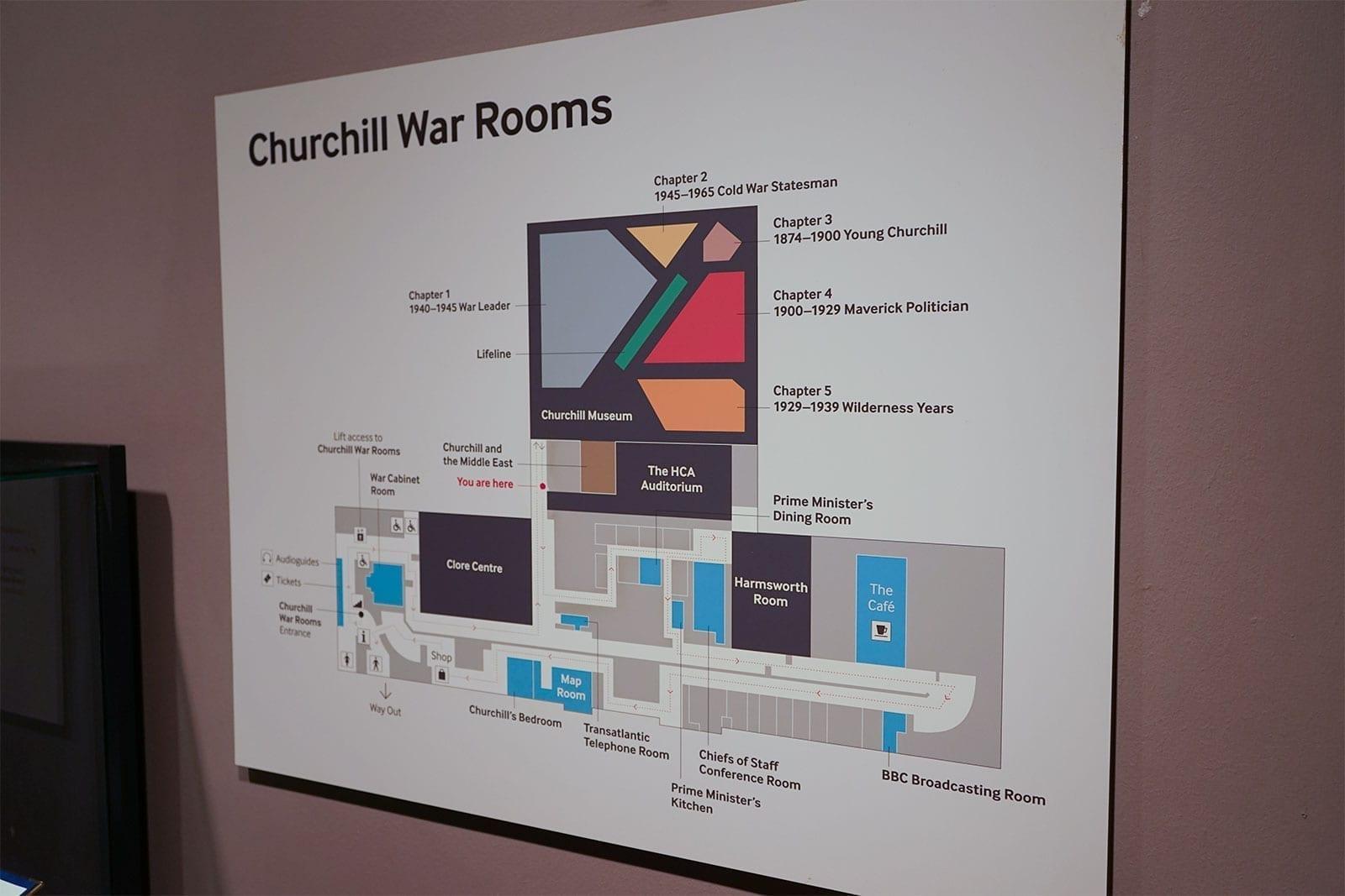 Churchill War Rooms Map