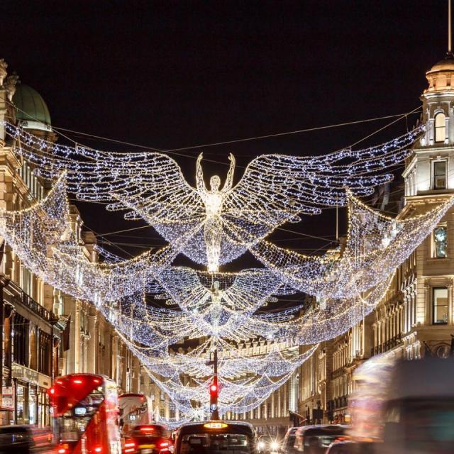 Weihnachtsbeleuchtung in London: Es werde Licht!